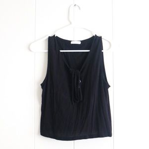 ☆Occasion Black Crop Tank Top